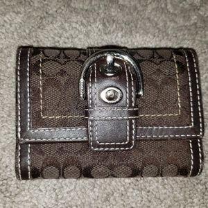Authentic Coach Brown Signature Wallet